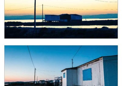 gruissan coucher de soleil village de pêcheurs